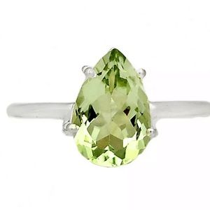 Brazilian green amethyst ring size 8.5